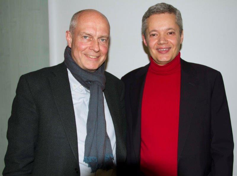 Nach einer erfolgreichen 9. Lounge: B. Hauser und C. Rauen